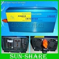 1000 w pur puissance d'onde sinusoïdale onduleur DC 12 V/24 V/48 V à AC 220 V 50Hz/110 v 60 hz vent solaire puissance avec UPS fonction