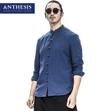 Anthesis the eastern style men's clothing linen shirt male vintage loose hanfu fluid tang suit shirt