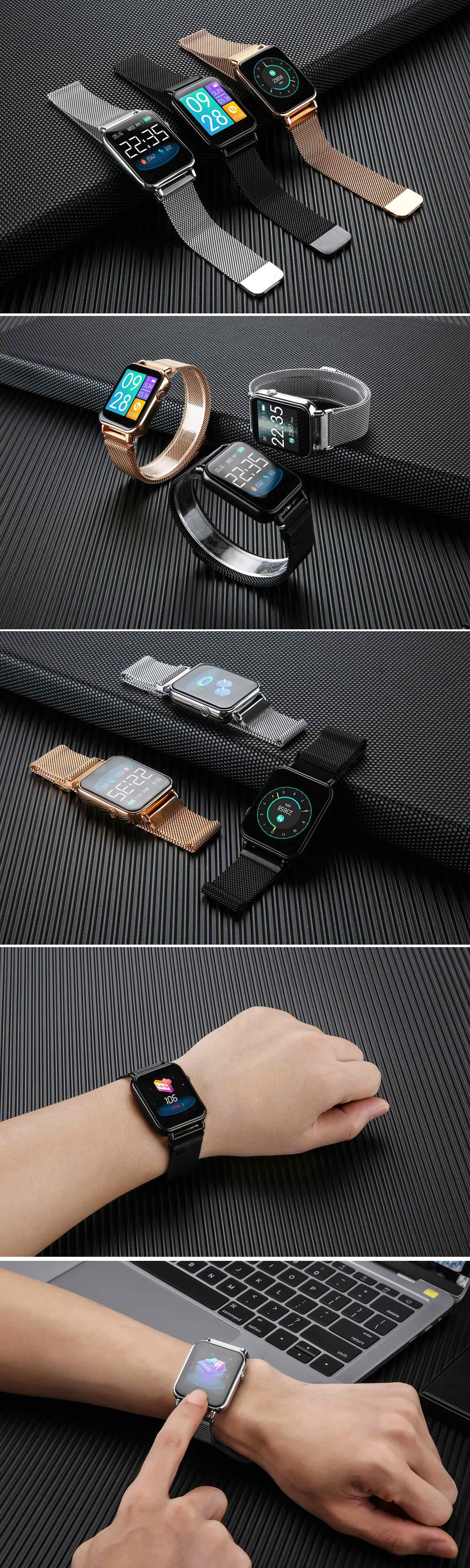 Bakeey y6 pro smartwatch das mulheres dos
