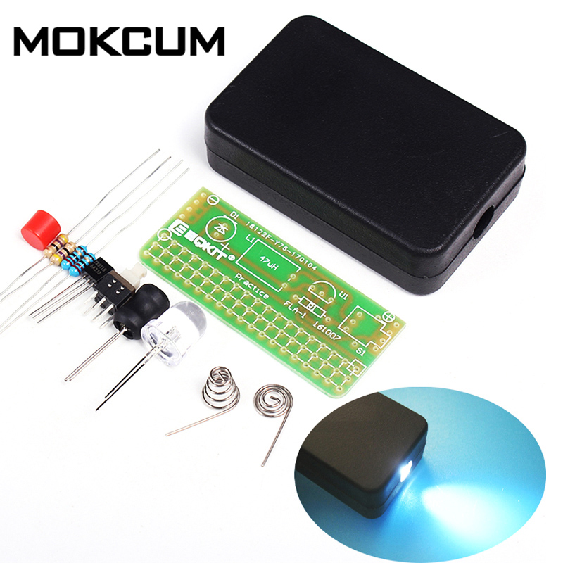 DIY Kits 1.5V Flashing Light Kit Soldering Practice Circuit Board Universal Flashlight Plate Electronic Manufacturing Parts