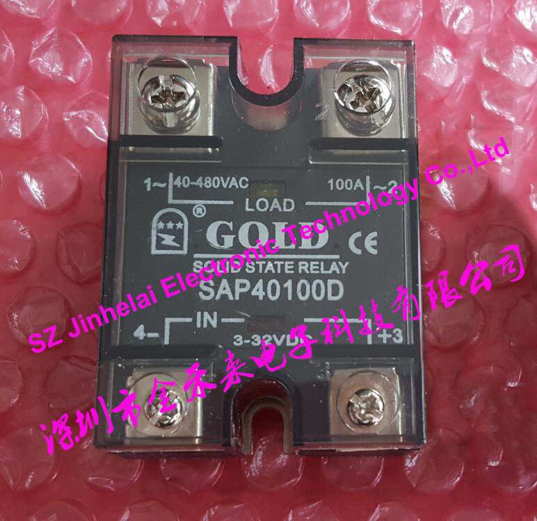 100% New and original  SAP40100D  GOLD Single phase Solid state relay  100A 3-32VDC 40-480VAC new and original sa340100d sa3 40100d gold three phase solid state relay 480vac 100a