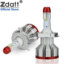Zdatt 6500K ZES Headlight H4 H7 Led Bulb H1 H3 H8 H9 H11 9005 9006 HB3 HB4 100W 12000Lm 12V Auto Light White Automobiles
