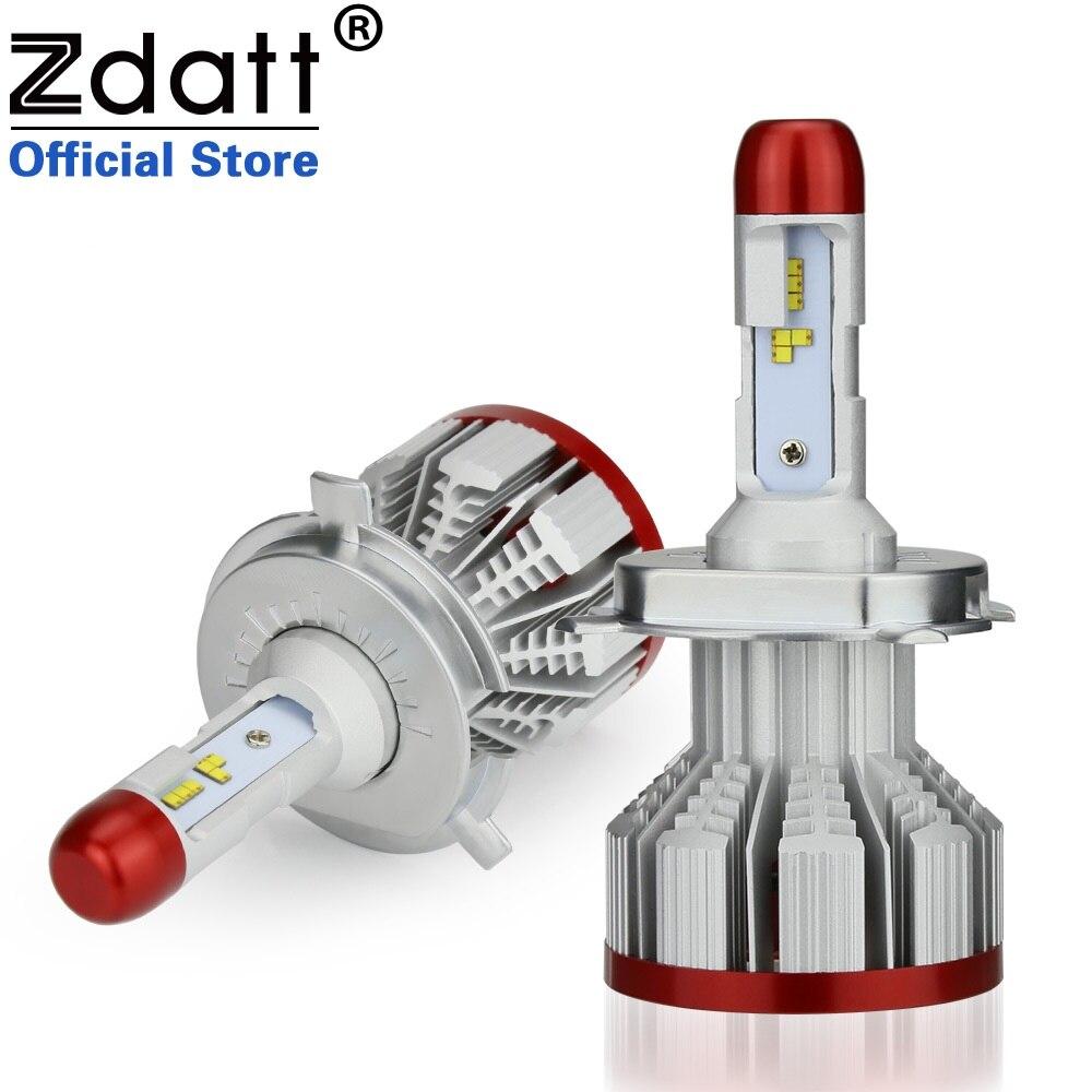 Zdatt ZES Voiture Phare H4 H7 LED Ampoule H1 H3 H8 H9 H11 HB3 HB4 9005 9006 100 W 12000Lm 12 V Auto LED Lumière Blanc Automobiles