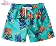 цена на 2019 3D Pineapple Boys Shorts Quick Dry Beach Board Shorts Hawaiian Kids Swim Trunks Swimsuit Beachwear Shorts Mesh Liner 3-11Y