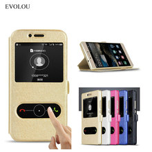 EVOLOU Huawei Y6 Prime 2018 Case Cover Quick View Window Flip Leather Case for Huawei Y6 Prime 2018 ATU-L42 ATU-L31 Phone Bag цены