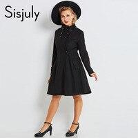 Sisjuly women jacket coat winter black women's fashion jackets long sleeve elegant slim coat woman causal outerwear & coats 2017