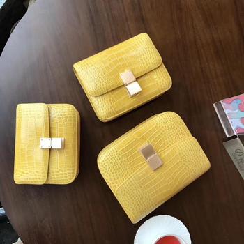 Kafunila genuine leather bags for women 2019 luxury handbags women bags designer tofu flap alligator female shoulder bags bolsa