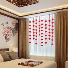 1 Set 3m Love Heart Non-woven Bridal Chamber Wedding Decor Door Curtain DIY