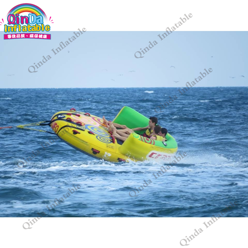5m Crazy UFO inflatable crazy water game,inflatable island Crazy UFO inflatable flying fish air sofa made in china water ski tube flying sofa inflatable water ski tube crazy ufo inflatable crazy water game crazy ufo