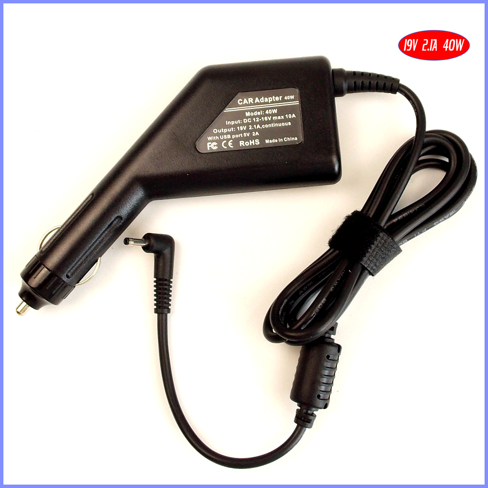 19V 2.1A 40W Laptop Car DC Adapter Charger + USB Power (5V 2A) for Samsung Series 5 Chromebook 3G 300U1A-A01 ADP-40MH AB