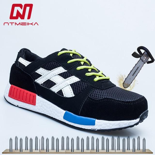 Thoáng khí Nam Làm Giày Thép Ngón Chân Bảo Vệ Giày Dép Thời Trang An Toàn Giày Boots Nam Sneakers Size 35- 46