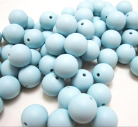 YUMUZ 15mm Ice Blue Silicone Loose Beads Safe Food Grade Silicone for Teething Necklace Teether Accessories 20pcs