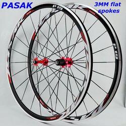 Obręcz koła ze stopów 700C kosmiczna droga rowerowa koło rowerowe V hamulec aluminiowy koła koła rowerowe felgi uszczelnione łożysko płaskie szprychy 12sp