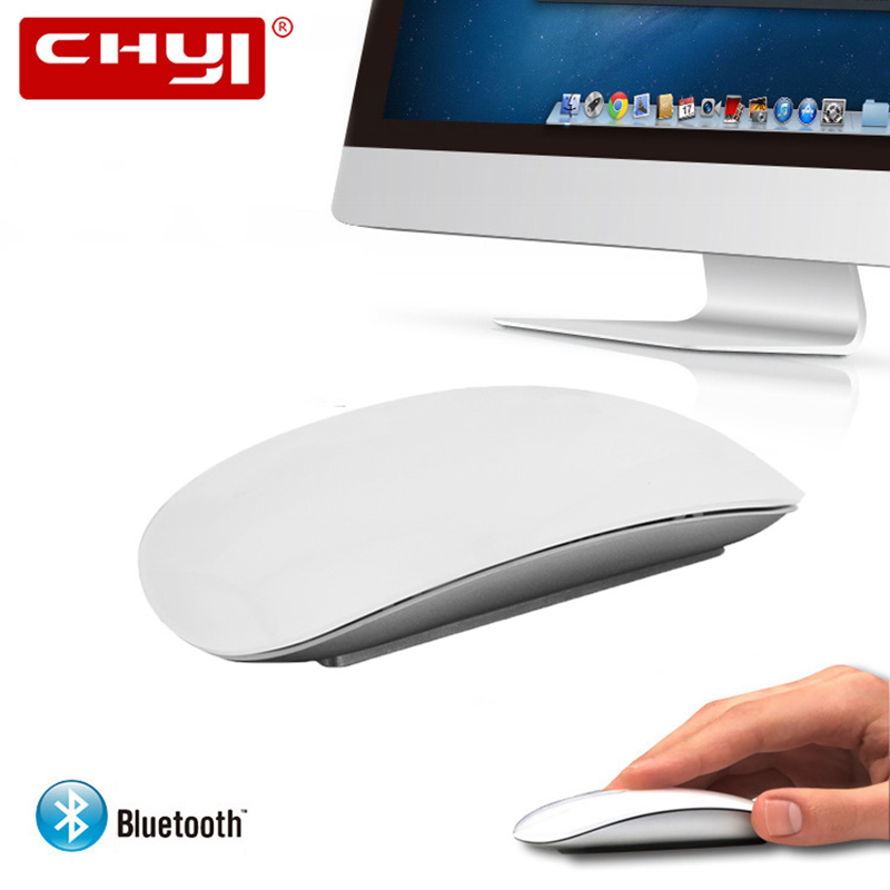 CHYI ARC Touch Bluetooth Wireless Mouse Slim Ergonomic Optical Computer Mice Ultra-thin BT 3.0 Mause For Apple Macbook PC Laptop