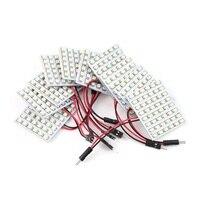 10 قطع الأبيض led لوحة 48 smd 1210 سيارة الداخلية قبة أضواء السيارات لمبة مؤشر الإضاءة الساخن بيع