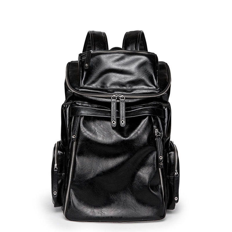 Men PU Leather Backpack High Quality Youth Travel Rucksack School Book Bag Male Laptop Business bagpack mochila Shoulder Bag цена