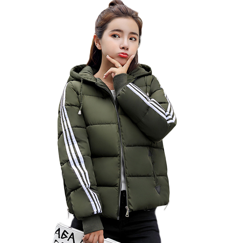 Girls Fashion Warm Wadded Jacket Female 2018 Autumn Winter Jacket Women Short Cotton-padded Outwear Winter   Parkas   Coats D020