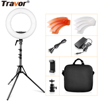 LED Ring Light 12 Inch Dimmable 5500K Circular Light With Tripod Studio Ring Lamp Photography Photo ringlight for Youtube Makeup