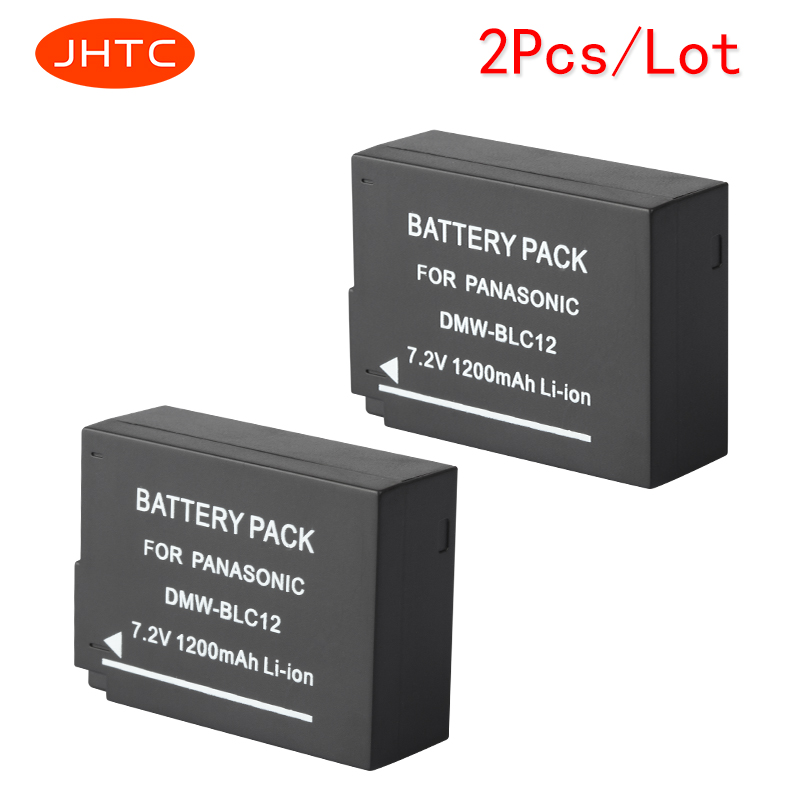JHTC 2pcs/lot 1200mAh DMW-BLC12 BLC12E Battery for Panasonic Digital Lumix Camera DMC-GH2 GH2H FZ200 G6 G5 G5K GH2K G80 G81 G85 free shipping 95%new for panasonic lumix dmc fz200 fz200 lens ccd image sensor board with flex repair part