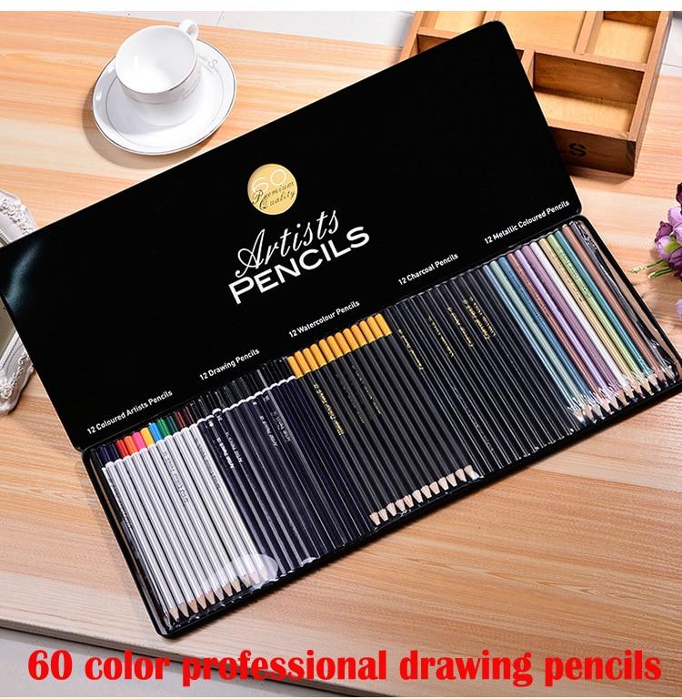 60 barevné tužky studentů kreslicí nástroje Secret Garden zbarvení pastelky kreslení graffiti malování malované barevné tužky olovo Set