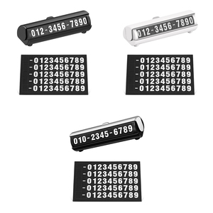Image 1 - car interior products Car sticker Stop sign temporary mobile phone number plate  luminous creative