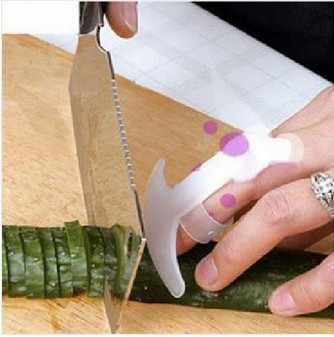 Pisau Baru Makanan Pisau Potong Sayur Palm Rest Pelindung Jari Tangan Guard Ini dengan Harga Murah Senyum Dapur Alat