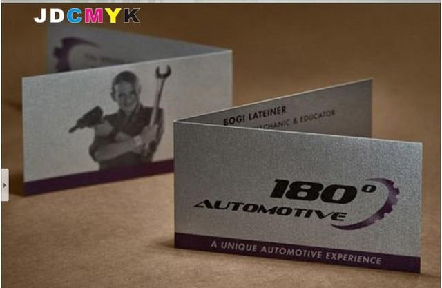 1000pcs Modern High Grade Folding Busi Ness Card 300G GLOSSY OR MATTE Custom