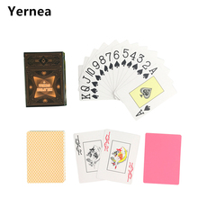New Arrival 1 Piece Classic Poker Baccarat Texas Holdem Waterproof Frosting Plastic Playing Cards Games 2.48*3.46 inch Yernea