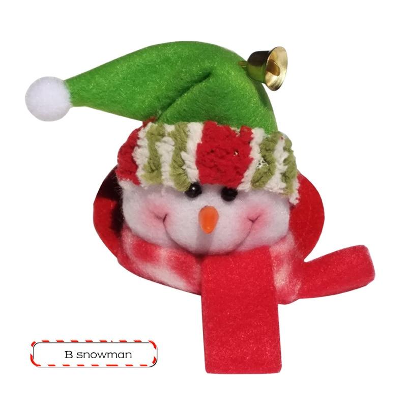 1 STKS Kerstfeest Ronde Onderzetters Kerstman Cup Mat Kerst Wijnfles - Feestversiering en feestartikelen - Foto 5