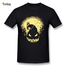 Fashion Male The Nightmare Before Christmas Jack Skellington T Shirt Soft Slim Homme Tees
