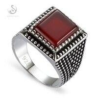 Eulonvan New Arrivals Engagement Wedding 925 sterling Silver Jewelry black rings men Red Cubic Zirconia S 3806 sz# 7 8 9 10 11