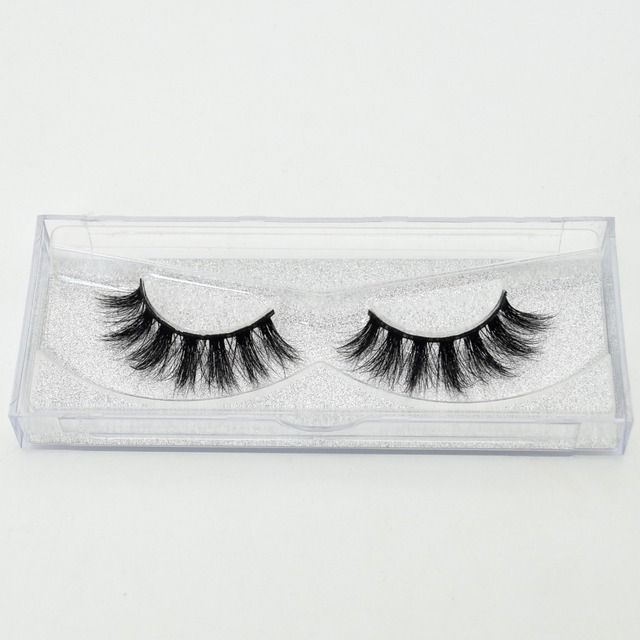 visofree 3D Mink Lashes Eyelash Extension 100% Handmade Thick Volume Long False Lash Makeup Giltter Packing 1 Pair D110 3