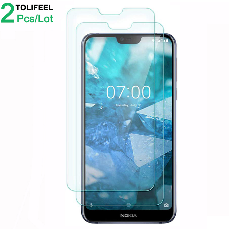2Pcs Tempered Glass For <font><b>Nokia</b></font> <font><b>7.1</b></font> Screen Protector 9H 2.5D Phone On Protective Glass For <font><b>Nokia</b></font> 7 2018 <font><b>7.1</b></font> Glass image