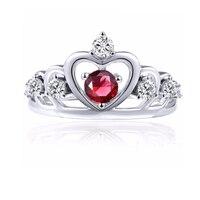 Кольца из стерлингового серебра 925 для женщин Свадебные ювелирные изделия культивированный Перидот топаз Рубин Принцесса Корона Кольца ве