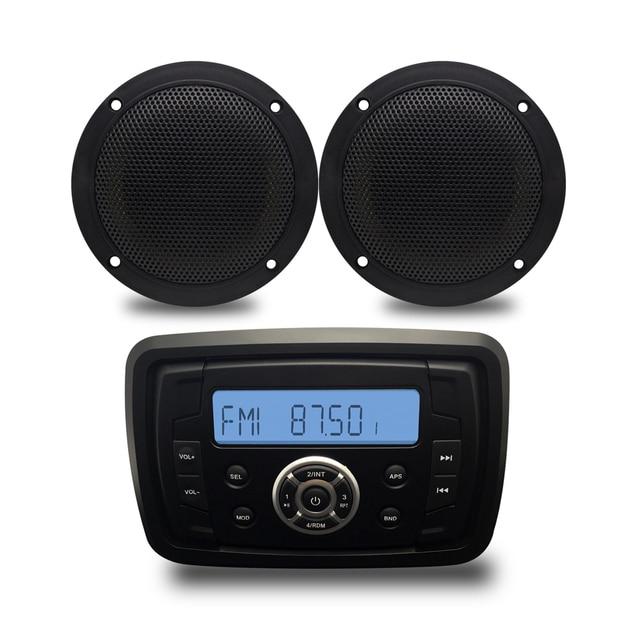 Лодка аудио стерео Bluetooth мотоциклетные Радио морской MP3-плееры звук Системы для ATV/Yacht сауна/spa 4 дюймов морской Колонки