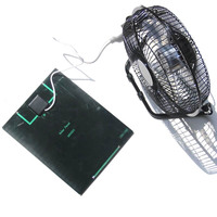 Solar Panel Powered Fan 5.2W Mini USB Portable Fan Solar Power Phone Charger for Outdoor DX88