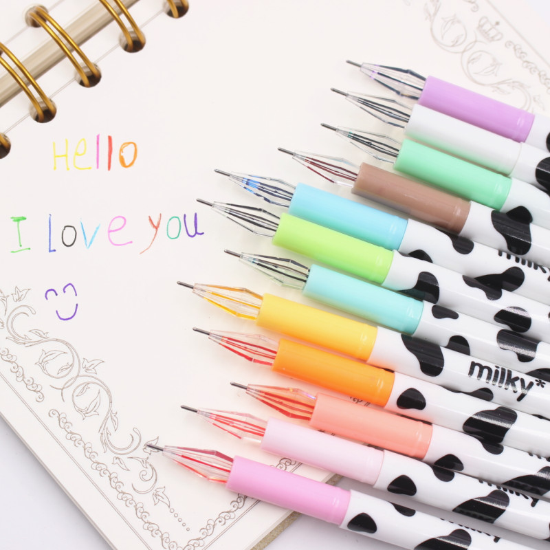 1pcs Kawaii Cartoon Colorful Diamond Gel Pen Set Cute Korean Stationery Pens For Writting Office School Supplies 10pcs lot new cute colorful cartoon gel pen set kawaii korean stationery creative gift school supplies colored gel pens