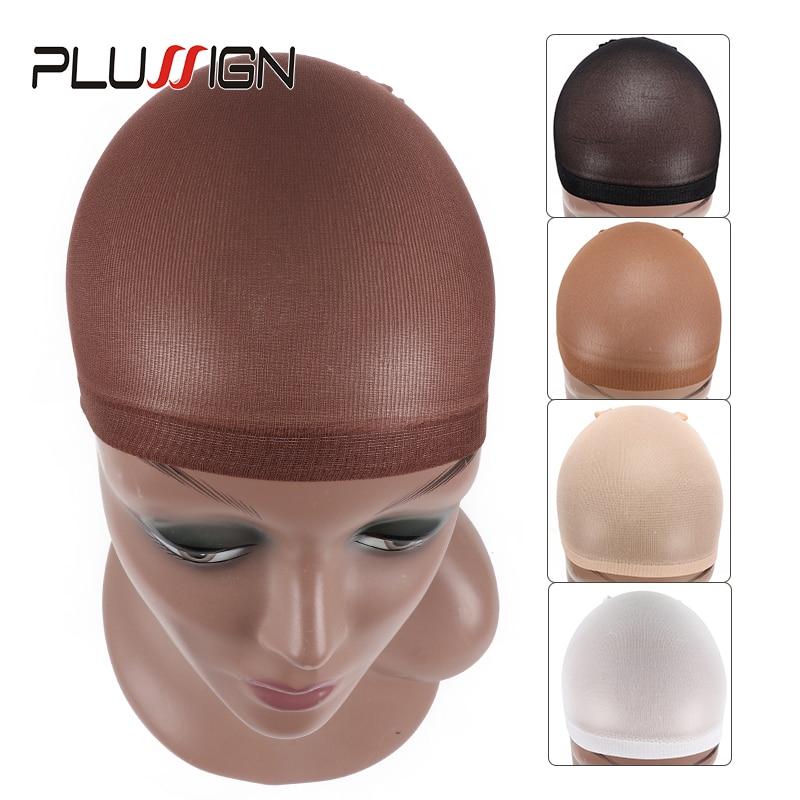 Plussign 1Pack 2Pcs Hair Wig Cap Wholesale Brown Stocking Wig Caps Professional Package Hair Net Blonde Dark Brown Hairnet