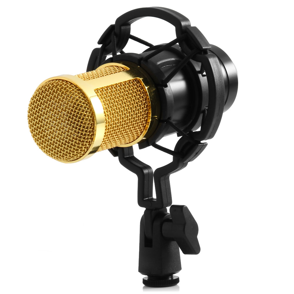 Zeepin BM-800 Dynamic Condenser Wired Microphone Mic Sound Studio for Recording Kit KTV Karaoke with Shock Mount Holder Mikrafon professional condenser microphone bm 800 bm 800 cardioid pro audio studio vocal recording mic 48v phantom power usb sound card