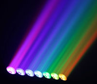 4pcs/lot factory price 7pcs 15W full color rgbw led beam moving head dmx dj lighting for home party