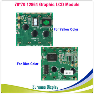 Image 2 - 78X70MM 12864 128*64 Graphic Matrix LCD Module Display Screen LCM with T6963C/RA6963 Controller in Industry Grade