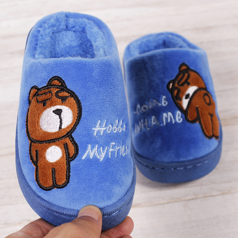 3598266f774 Children Shoes Winter Warm Home Slippers Kids Boys and Girls Cartoon Flip  Flops Soft Soles Non-slip Baby Slippers for Girls