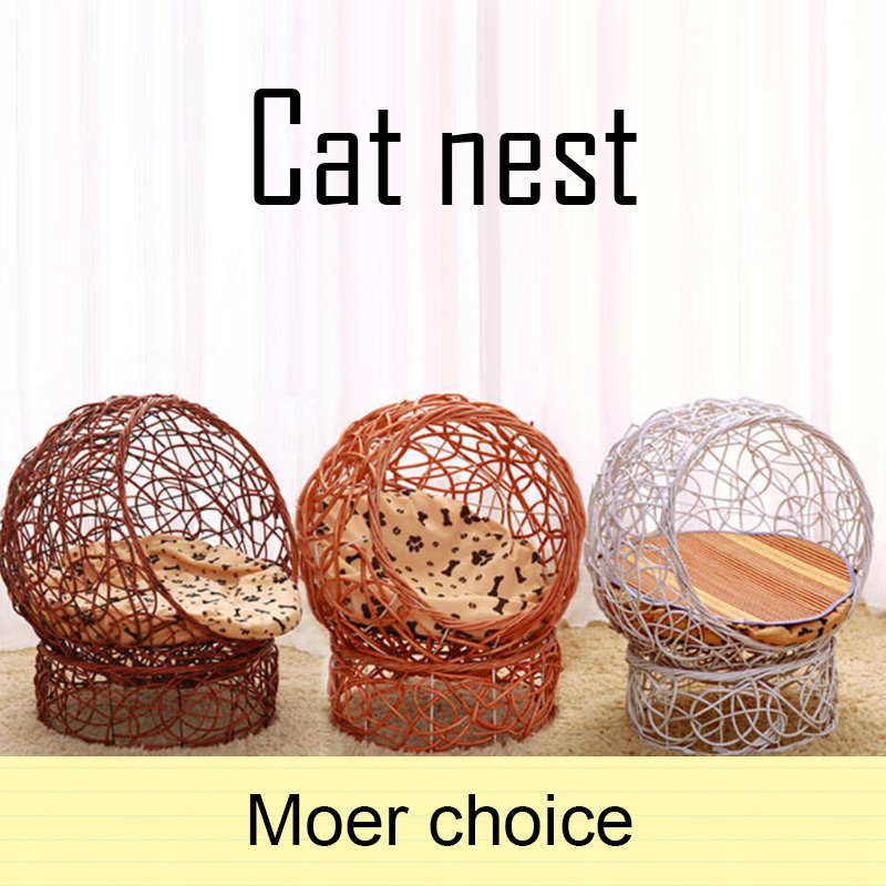 wicker-weave-pet-cat-dog-bed-beautiful-kitten-house-soft-mount-disassembly-cats-puppy-teddy-cats-nest-pet-supplies-accessories