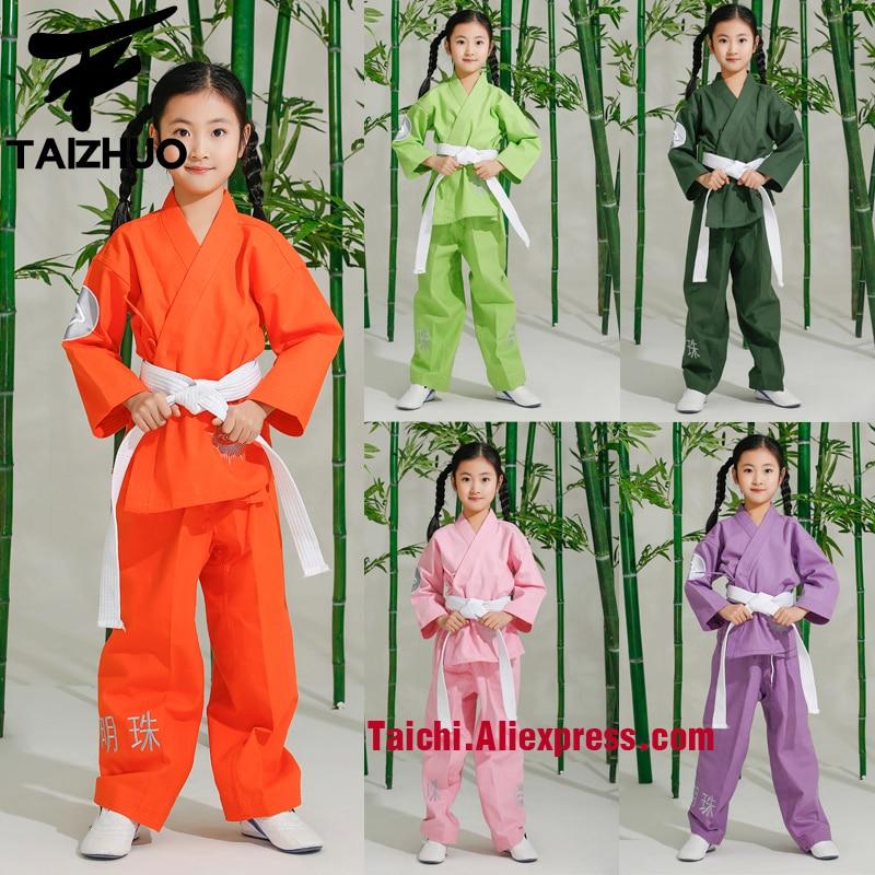 Martial Arts  Tae Kwon Do Children Taekwondo Uinform For Poomsae & Training,WTF Uniform,110-155cm,multiple Colour