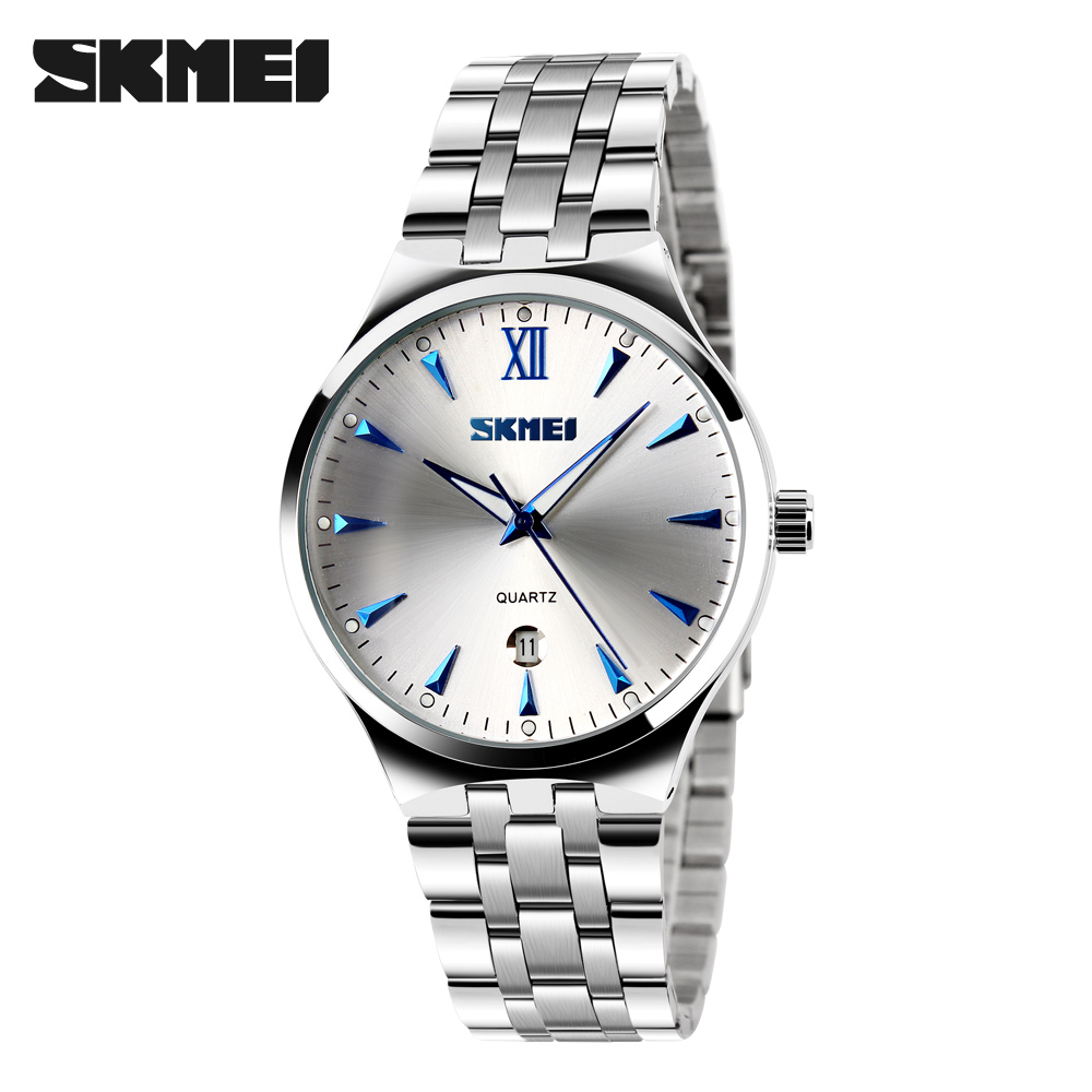 Watches Men Luxury Brand Watch SKMEI Quartz Analog Men Full Steel Wristwatches Waterproof Casual Watch relogio masculino mujer skmei brand luxury full stainless steel waterproof analog display date stopwatch men s quartz watch business casual men watches