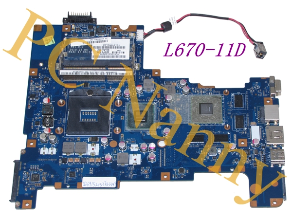 FOR TOSHIBA SATELLITE PRO L670-11D L670D MOTHERBOARD S988A HM55 ATI GRAPHICS k000090008 nalaa la-6042p Tested