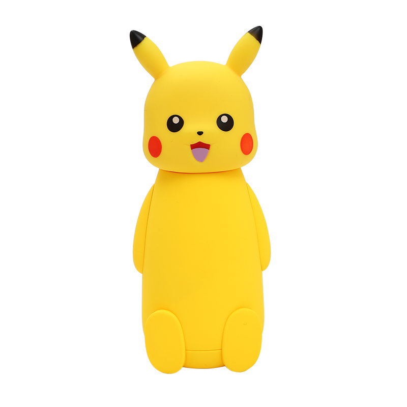 Pokemon Pikachu Glass Vacuum Cup Thermo Mug Insulated Cartoon Vacuum Flasks Thermoses Travel Drink Water Bottle