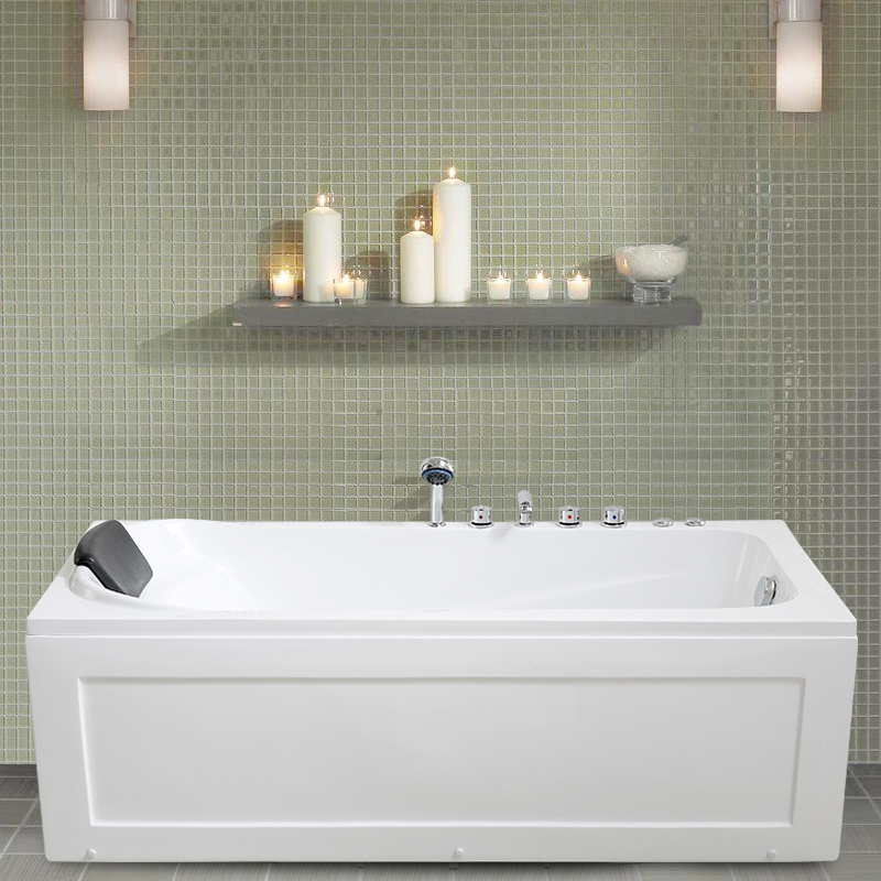 Bathroom pro environment acrylic household bathtub adult freestanding bathe bathtub small embedded 1.2 meters 1.8 meters