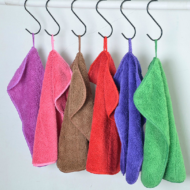 Towel For Kitchen Remodel Ideas Small Kitchens Hot Mixed Color Cleaning Polishing Cloth Dish Multi Purpose Non Stick Oil Rags Wiping