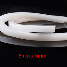 5mm x 5mm High temperature resistant solid silicone rubber sealing strip weatherstrip